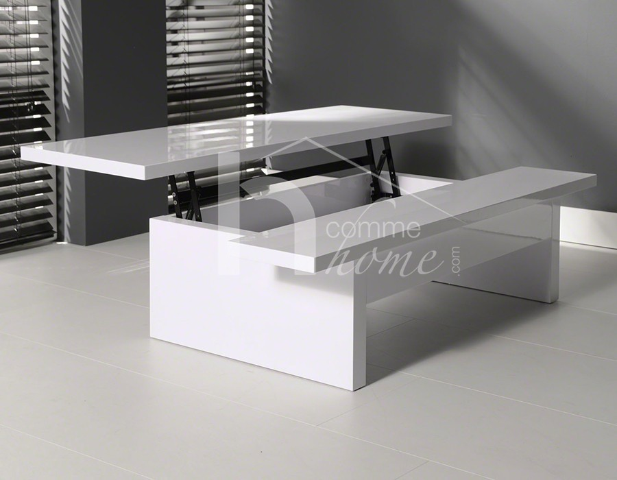table basse blanche relevable fly. Black Bedroom Furniture Sets. Home Design Ideas
