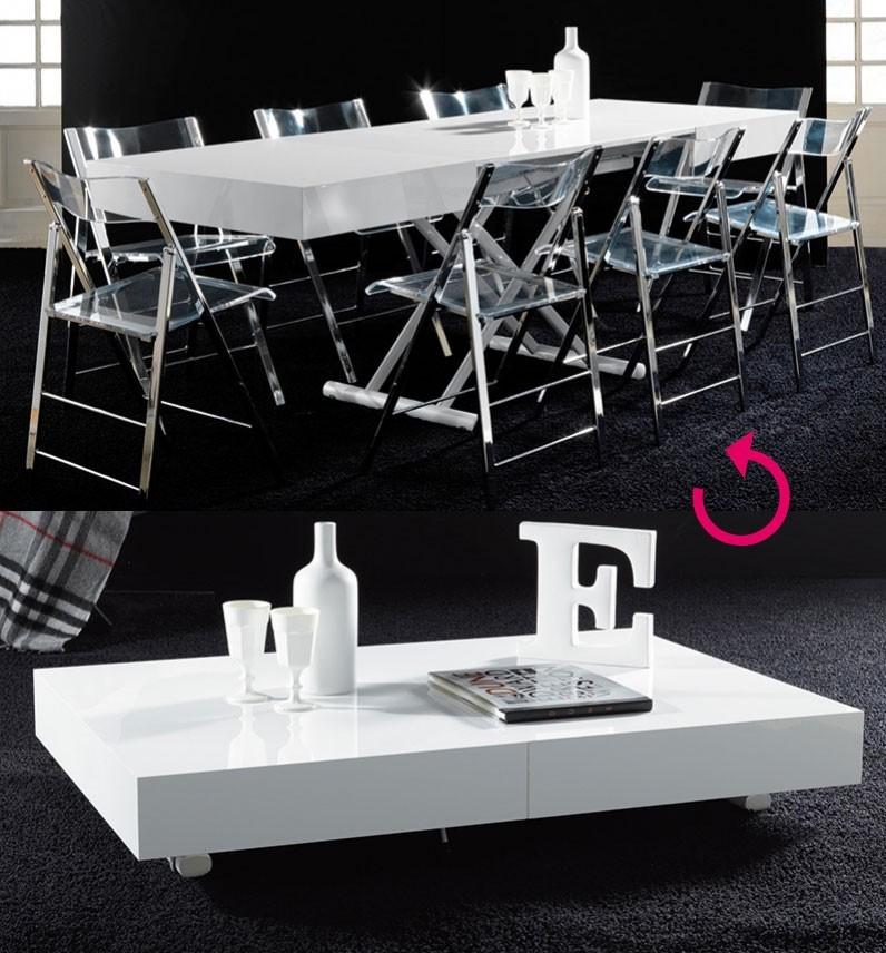 Table basse relevable lucinda zd1 tbas r d - Table basse transformable en table a manger ...