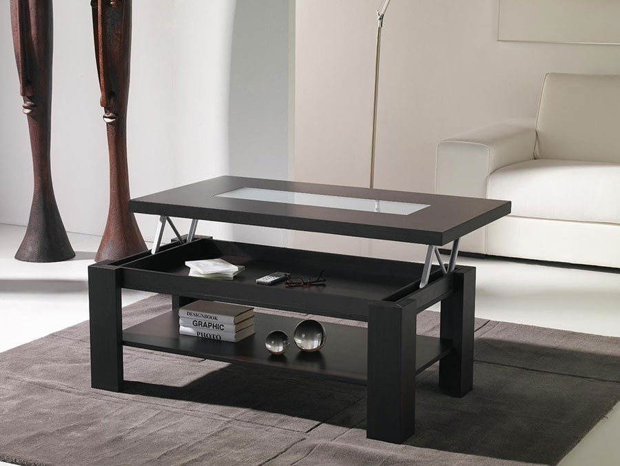 Table basse relevable wina zd1 tbas r c - Tables basses contemporaines ...