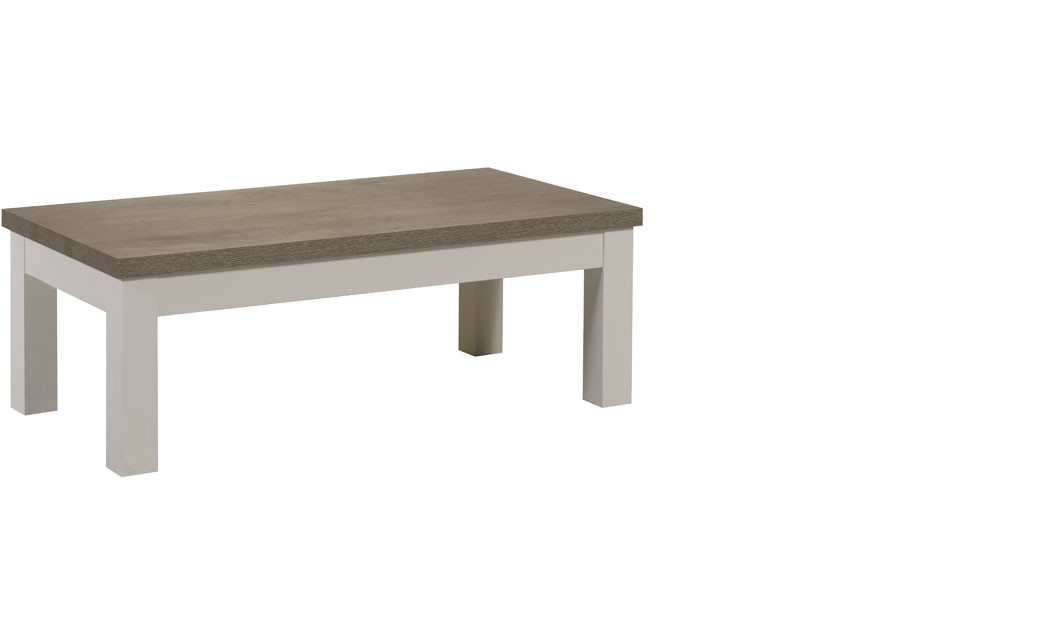 Table basse contemporaine couleur bois blanc et truffe lowell - Table de salon pas chere ...