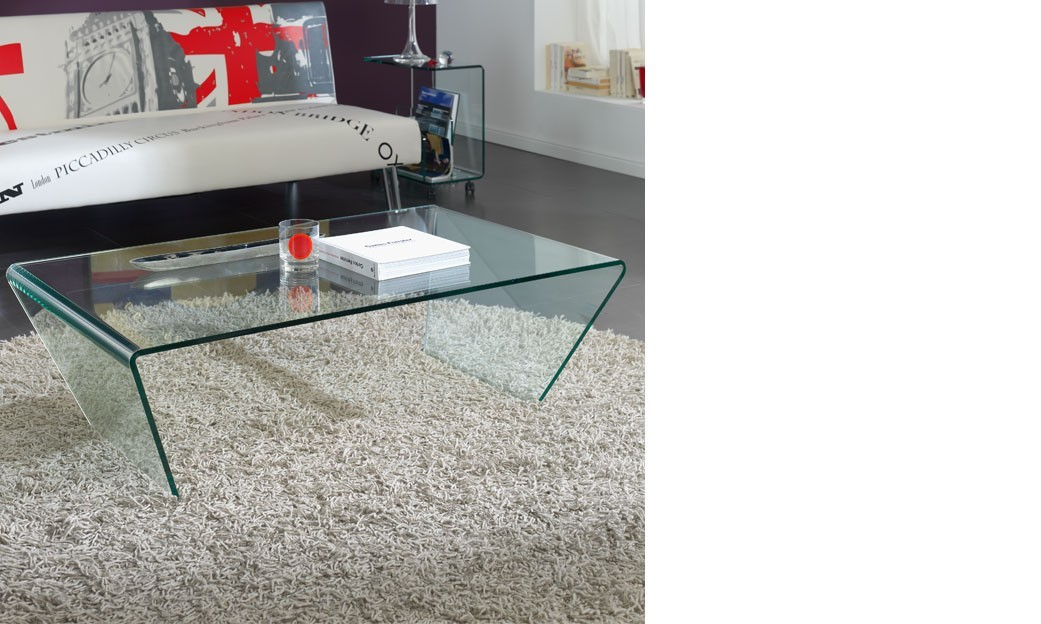 Table basse en verre design GLASSI