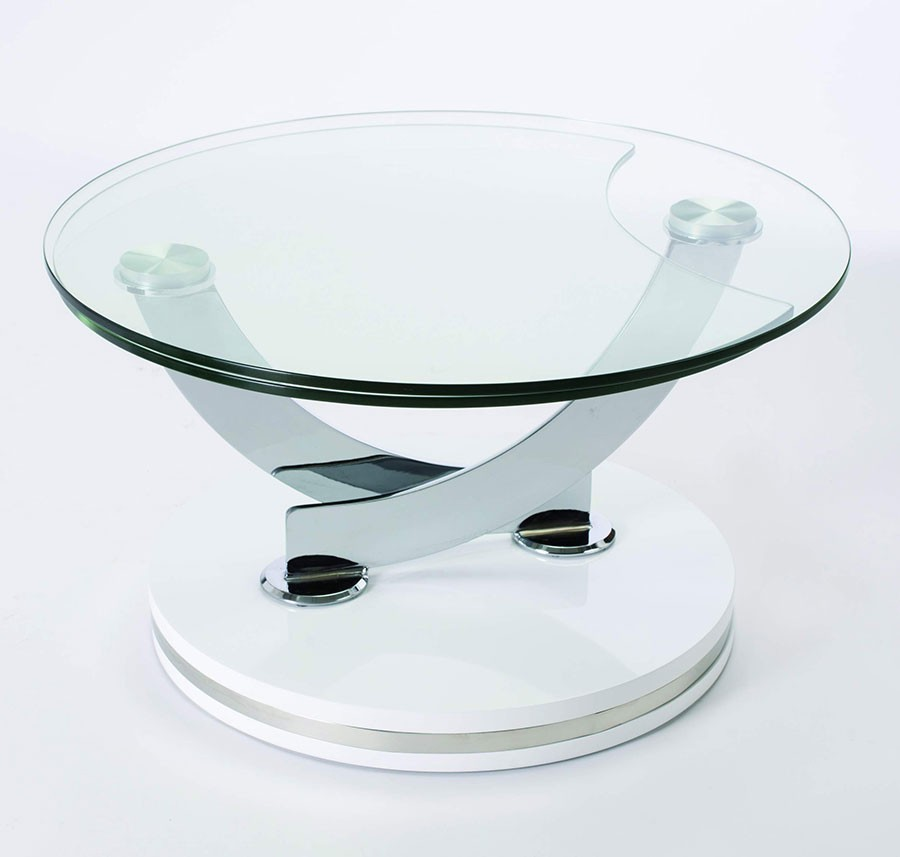 Table basse en verre ronde modulable - Table basse ronde verre ...