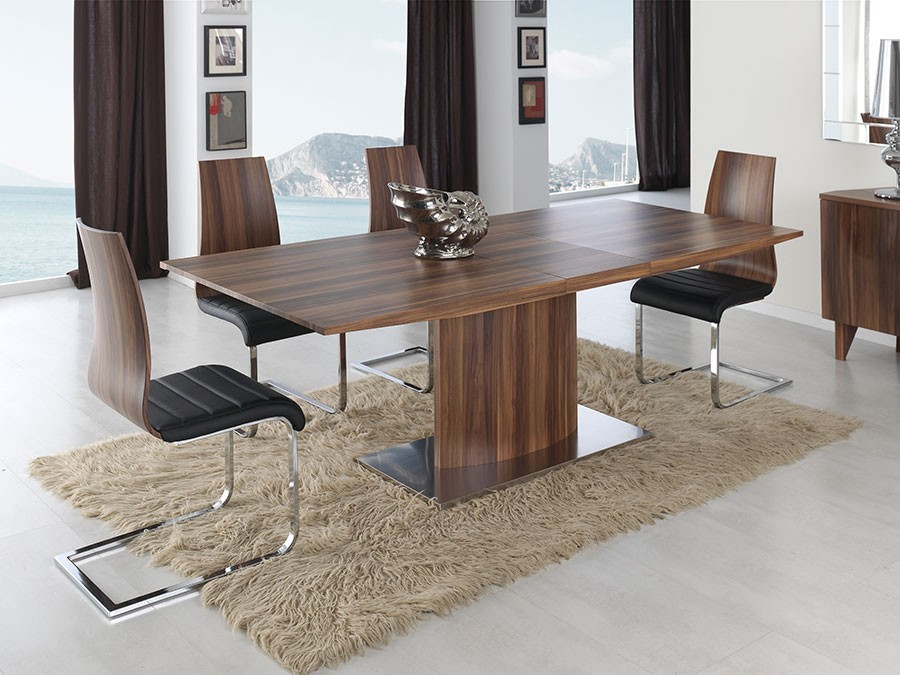Table contemporaine doha zd1 tab r c 055 for Table de salle a manger noyer