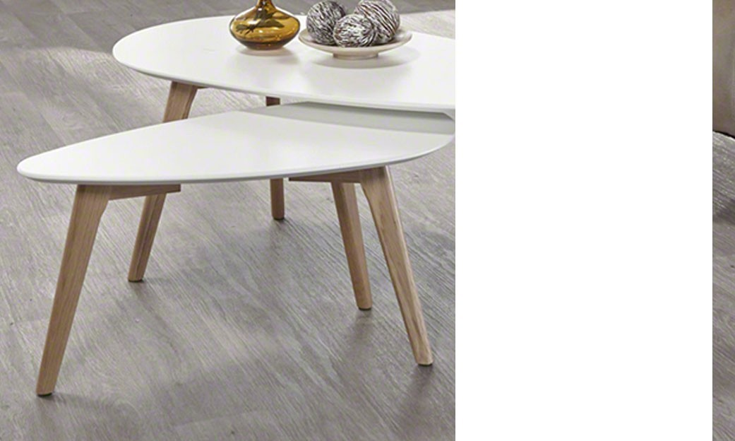 Table scandinave blanc maison design for Table scandinave blanc
