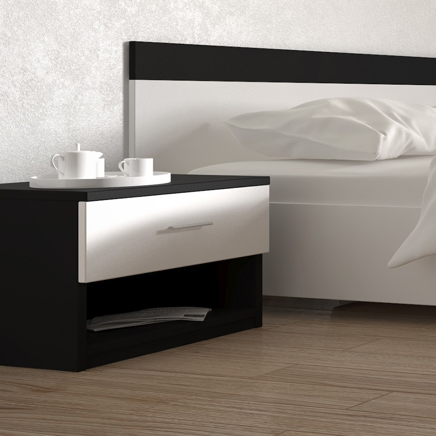 table de nuit contemporaine. Black Bedroom Furniture Sets. Home Design Ideas