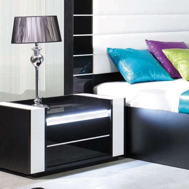 lit noir laque pas cher. Black Bedroom Furniture Sets. Home Design Ideas