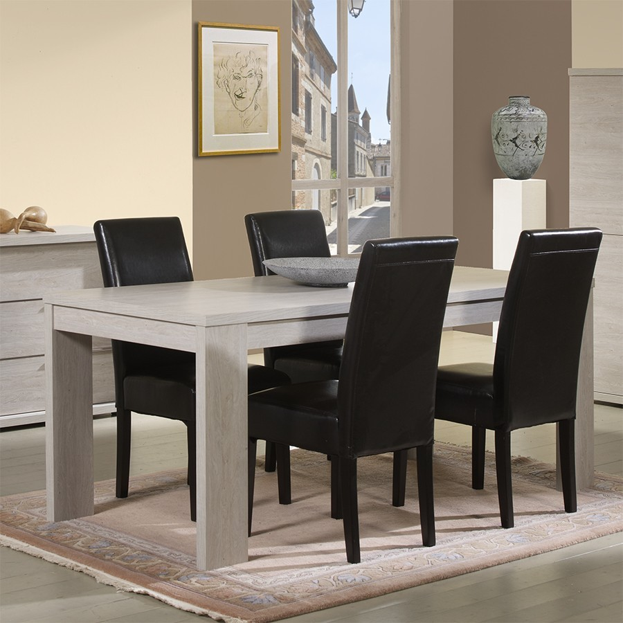 Table de salle a manger contemporaine belfast zd1 tab r c - Table de salle a manger contemporaine avec rallonge ...