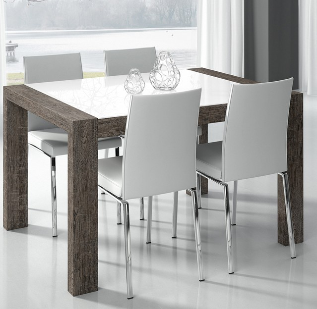 table de salle a manger moderne ludovic zd1 tab r c. Black Bedroom Furniture Sets. Home Design Ideas