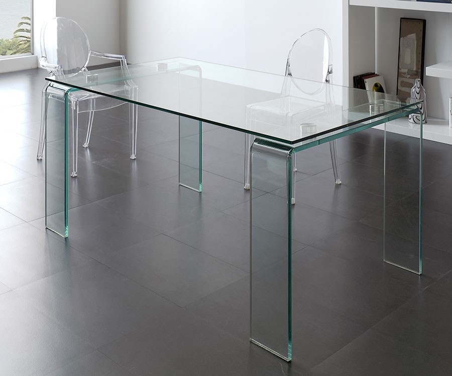 Table design verre hyalin zd1 tab r d - Table en verre design salle a manger ...