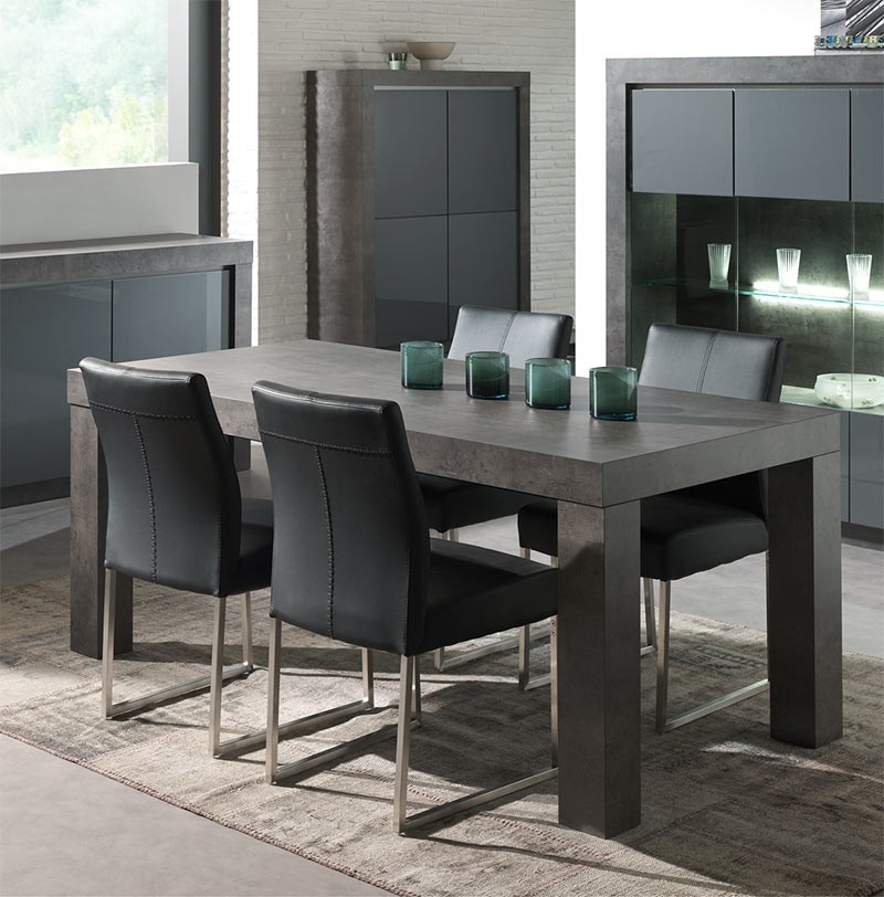 table salle a manger en beton cire table de lit a roulettes. Black Bedroom Furniture Sets. Home Design Ideas