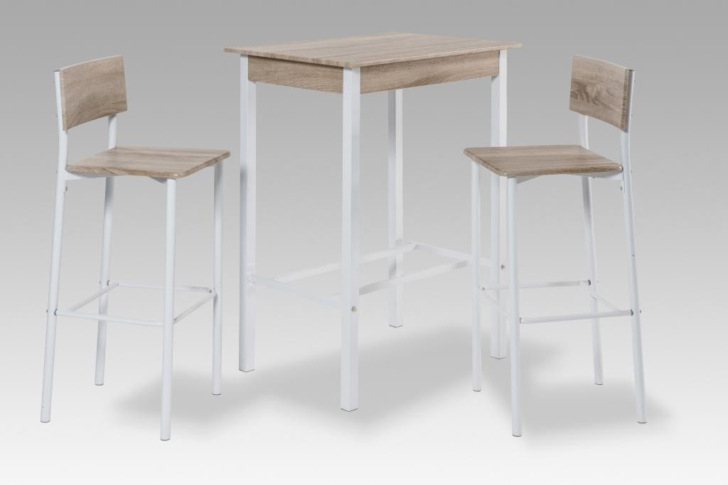 Tabouret table haute bar for Table bar haute blanche