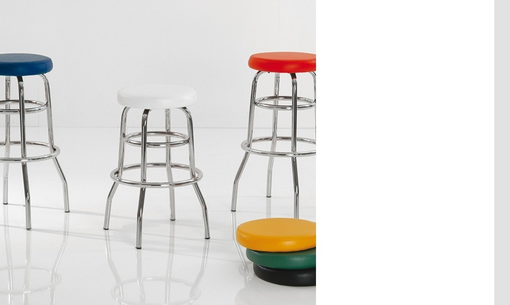 Tabouret de bar design AMERICA, disponible en 6 coloris ( lot de 2 )