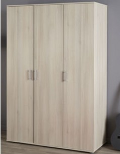 Armoire adulte 3 portes couleur acacia ESCAPE 4