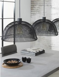 Suspension industrielle grise 3 lampes ARWEN