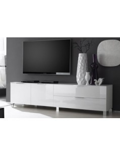 banc tv design casablanca coloris blanc laqu disponible. Black Bedroom Furniture Sets. Home Design Ideas