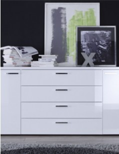 Buffet-bahut design laqué blanc high gloss RENATO