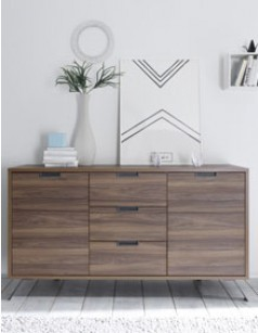 buffet contemporain couleur bois fonc lenexa. Black Bedroom Furniture Sets. Home Design Ideas