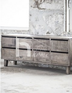 Buffet industriel en bois gris TRAVIS