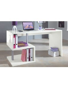 Bureau adulte design blanc brillant FEERIE