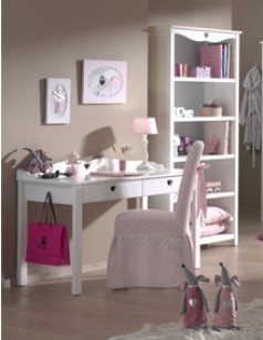 bureau fille blanc contemporain 2 tiroirs stella. Black Bedroom Furniture Sets. Home Design Ideas