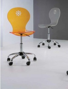 Chaise de bureau MIRKO, disponible en 3 coloris