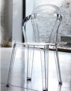 Chaise de salle à manger design en polycarbonate transparent POE (lot de 4)