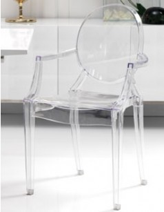 Chaise transparente design en polycarbonate MISMIR (lot de 4)