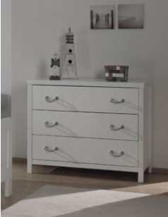 Commode enfant blanche design PARKER
