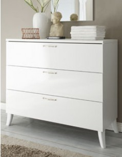Commode design blanche chambre adulte SISI