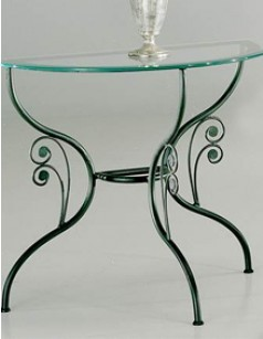 Console de table demi-lune en fer forgé GRAZIELLA