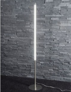 Lampadaire design LED en nickel mat LEILA