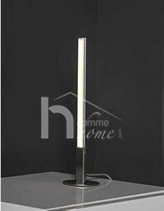 Lampe à poser LED design en nickel mat SABER