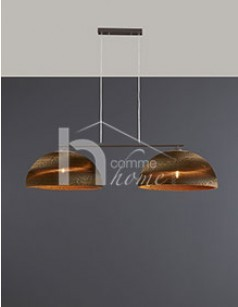 Suspension moderne blanche ou marron DOMOU