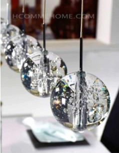 Luminaire suspension design en verre GALAXY