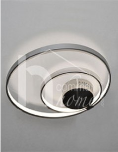 Plafonnier LED design en nickel mat CROP