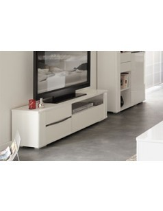 Meuble TV moderne blanc brillant CLARK