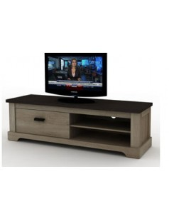 meuble tv couleur ch ne gris et gris anthracite contemporain galop. Black Bedroom Furniture Sets. Home Design Ideas