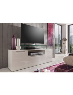 Meuble TV blanc brillant design COMET