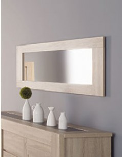 Grand miroir rectangulaire contemporain en chêne brut ALINE