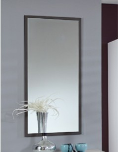 Miroir mural contemporain lidingo coloris noir volcan for Miroir noir review