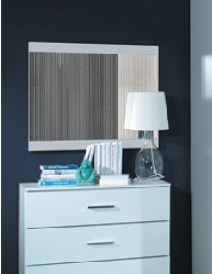 Miroir design AURORE, coloris blanc brillant