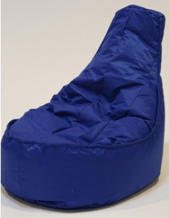 Pouf chaise en nylon FUN, coloris Cobalt