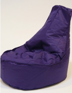 Pouf chaise en nylon FUN, coloris Mauve