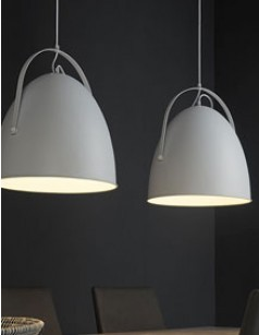 Suspension 2 luminaires blanc métal design LIOTA