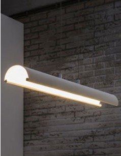 Suspension LED design blanche ROLLING