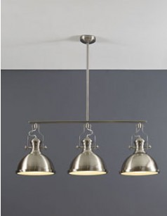 Suspension industrielle 3 lampes GAMA