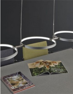 Suspension LED en nickel mat design 2002