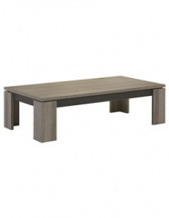 Table basse couleur chêne gris et anthracite contemporaine MATHILDA