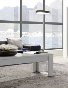 Table basse design blanc laqué mat TACOMA