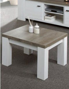 Table basse carr e contemporaine ch ne - Table carree chene clair ...